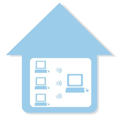 店内、複数店舗とのデータ共有化 店内ネットワーク