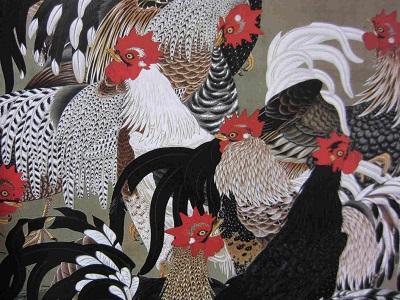 江戸時代の絵師「伊藤若冲」が描いた軍鶏